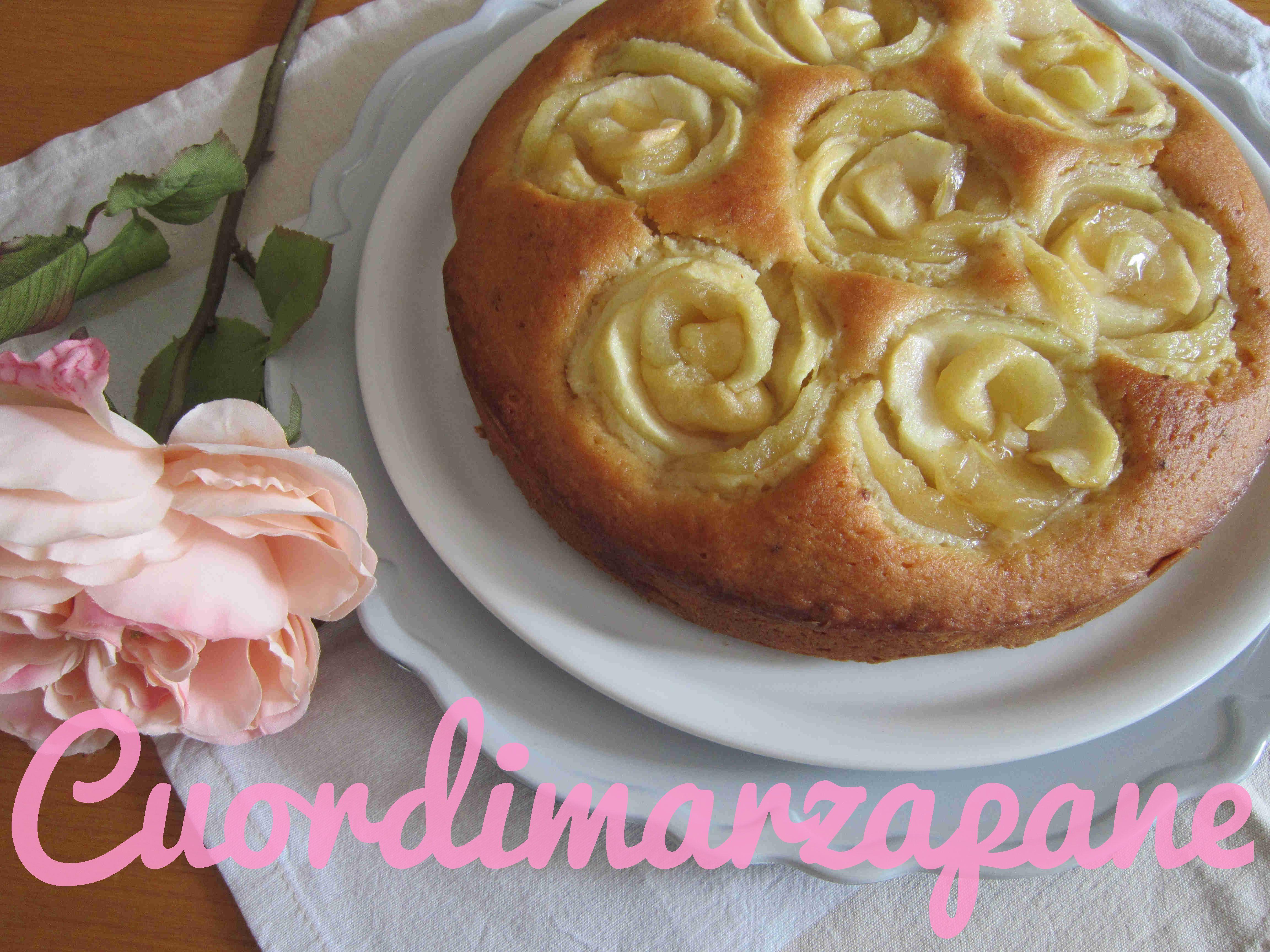 Torta con rose di mele | Cuor di Marzapane